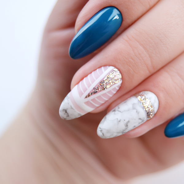 Marble nails σε πολυτελή έκδοση!
