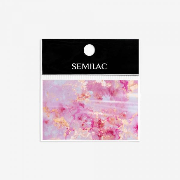 12 Εφέ νυχιών Nail Effect Transfer Foil Semilac Rose Gold Marble